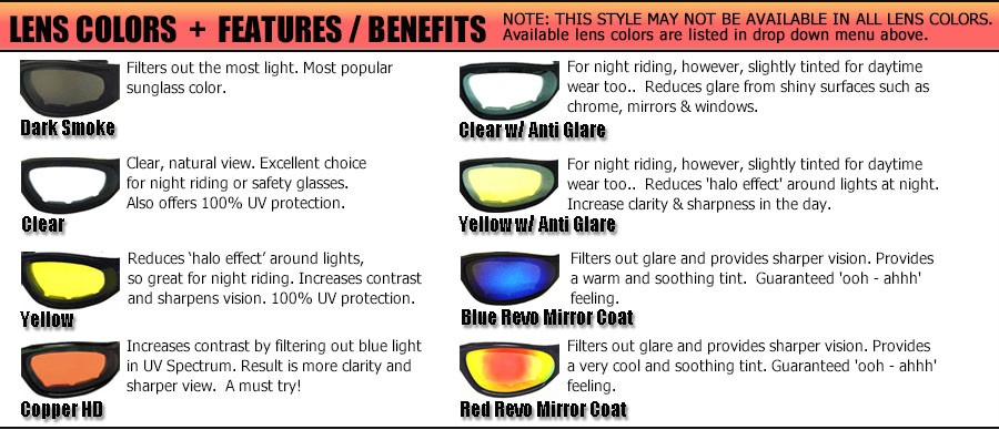all sunglasses brands  motorcycle sunglasses