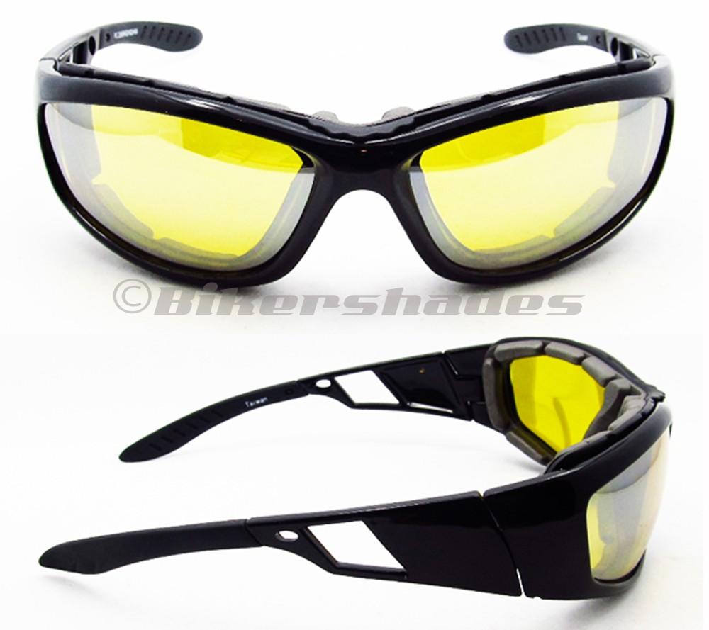 Biker Riding CLEAR HD YELLOW SMOKE Lens Motorcycle Glasses ...