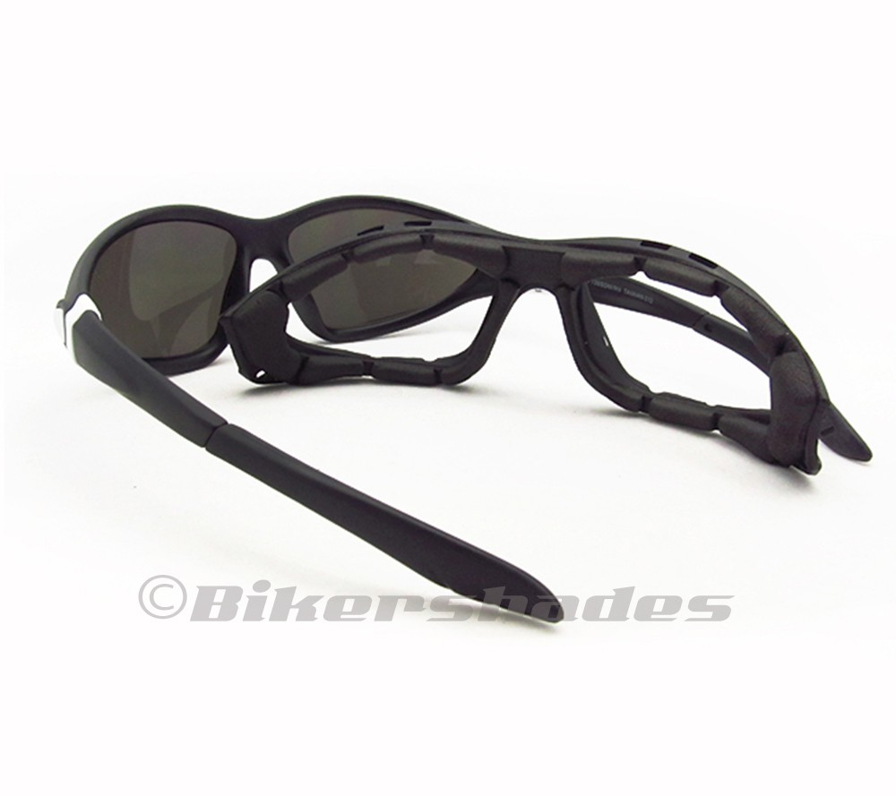 Biker Motorcycle Riding Glasses Goggles Removable Foam ...