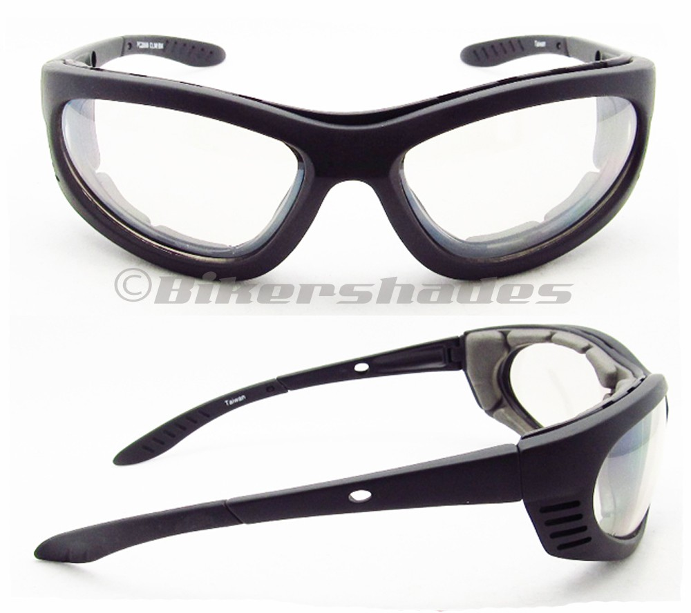 Clear Motorcycle Night Glasses Goggles Removable Foam ...