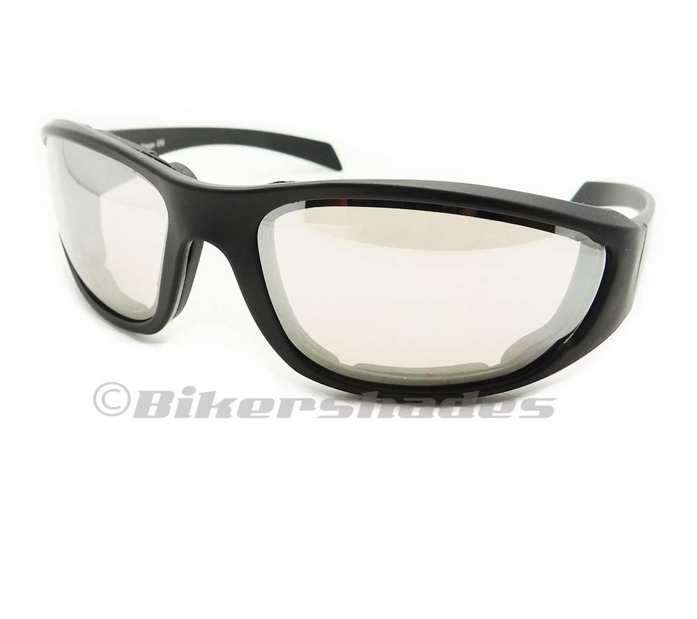 Mirror Motorcycle Sunglasses Goggles Anti Glare Reflective Large Blue Orange Men