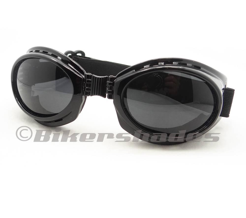 Anti Glare Polarized Motorcycle Goggles Fold Up Anti Fog Vented Design Frame Men