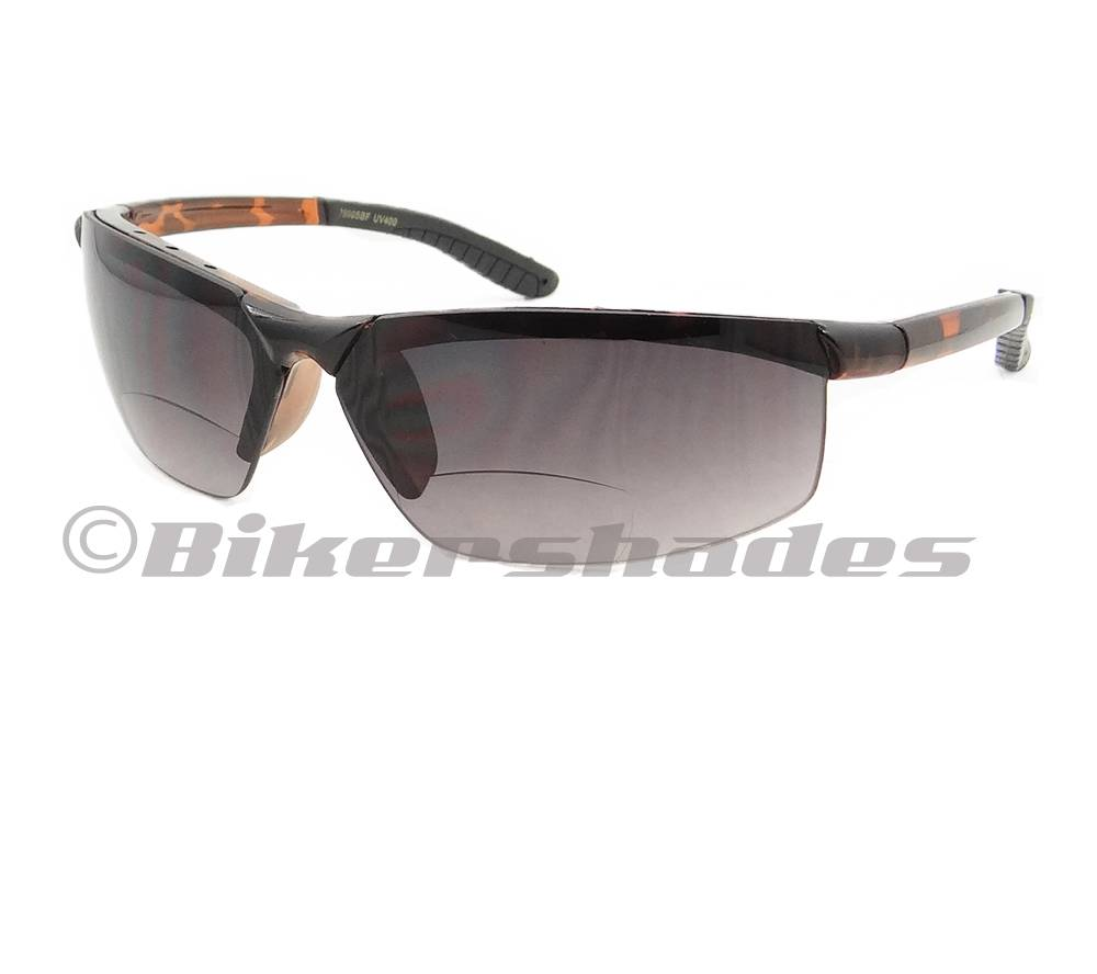 Rimless Bifocal Glasses : Motorcycle Bifocal Glasses Tinted Sports Driving Light ...
