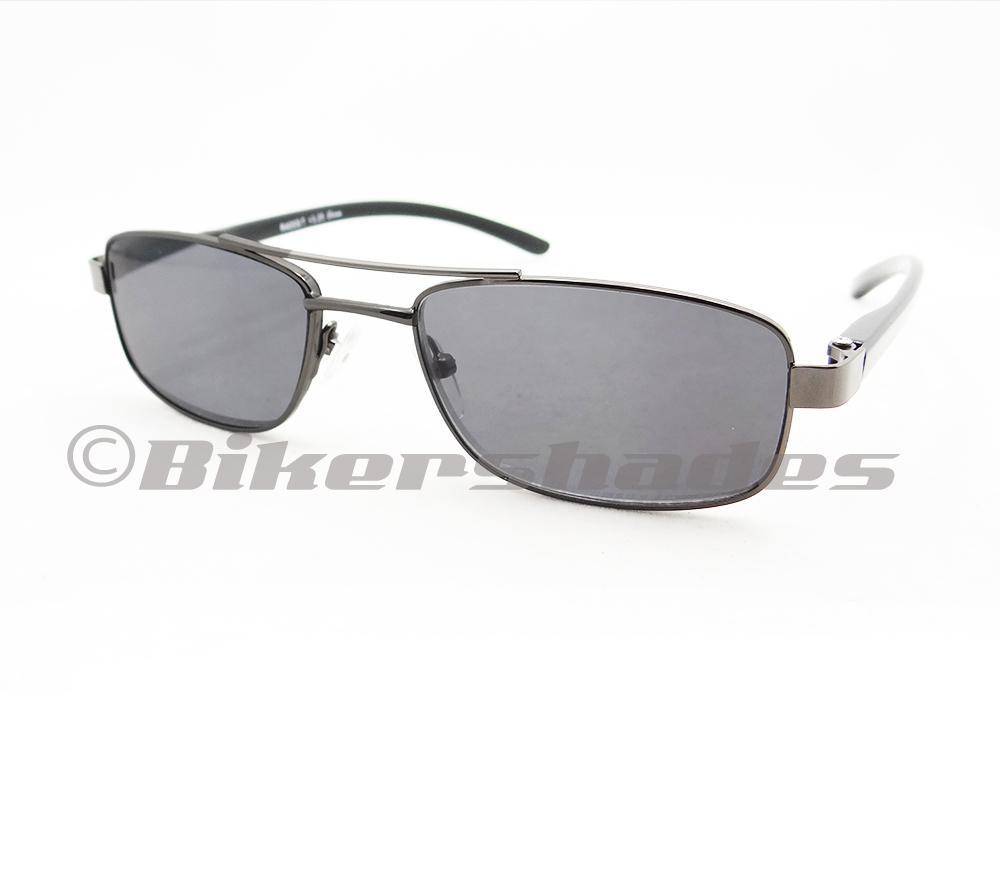 black tinted aviator sunglasses  Small Square Aviator Reading Sun Glasses Full Lens Tinted Sun ...