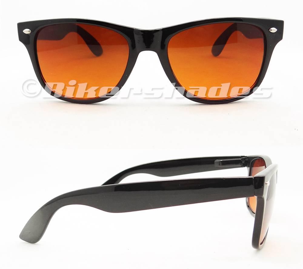 5e9fdd8459d Wayfarer Sunglasses High Definition HD Vision Copper Blue Blocker Lens Men  Women