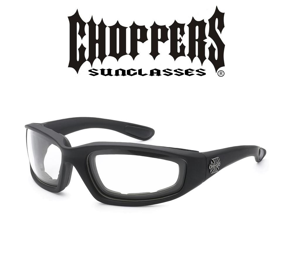 Choppers Motorcycle Sunglasses Foam Padded CLEAR SMOKE HD YELLOW ...