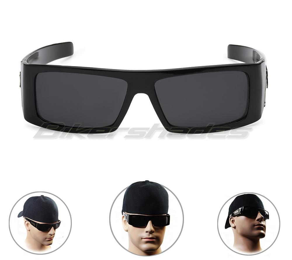 Mens sunglasses large head - Locs Sunglasses Men 039 S Motorcycle Riding Gloss