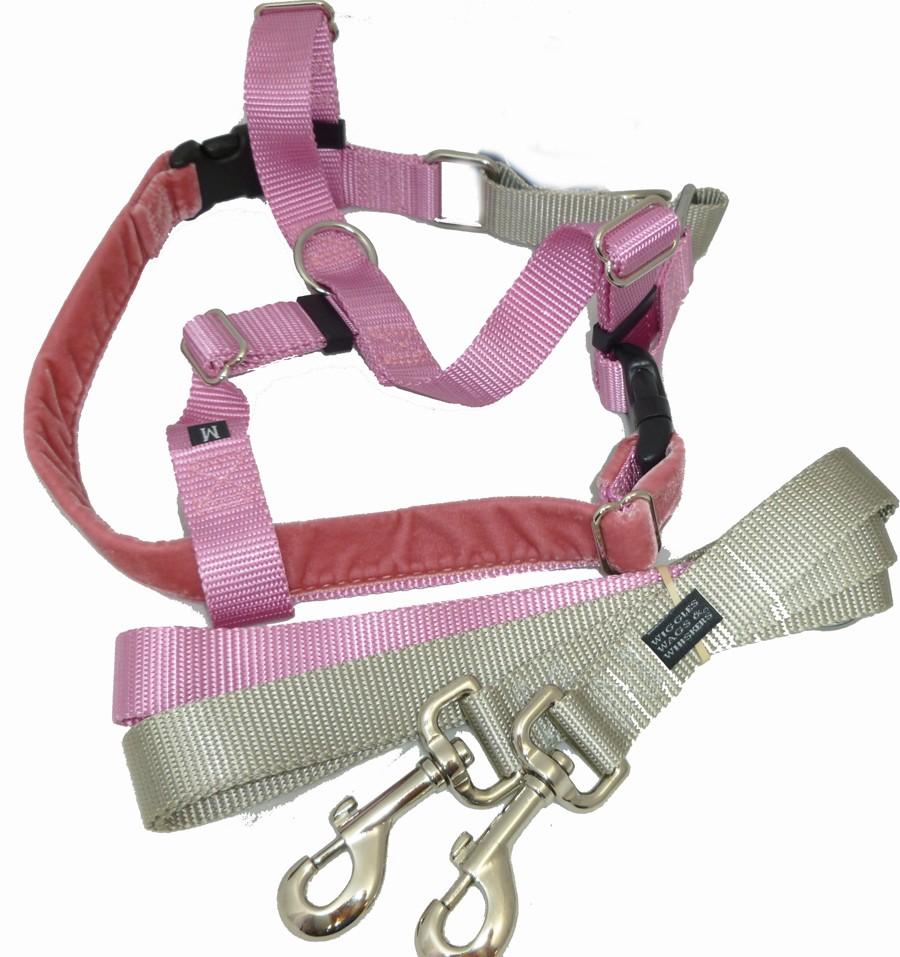 Freedom Velvet Lined No Pull Designer Harness And Leash