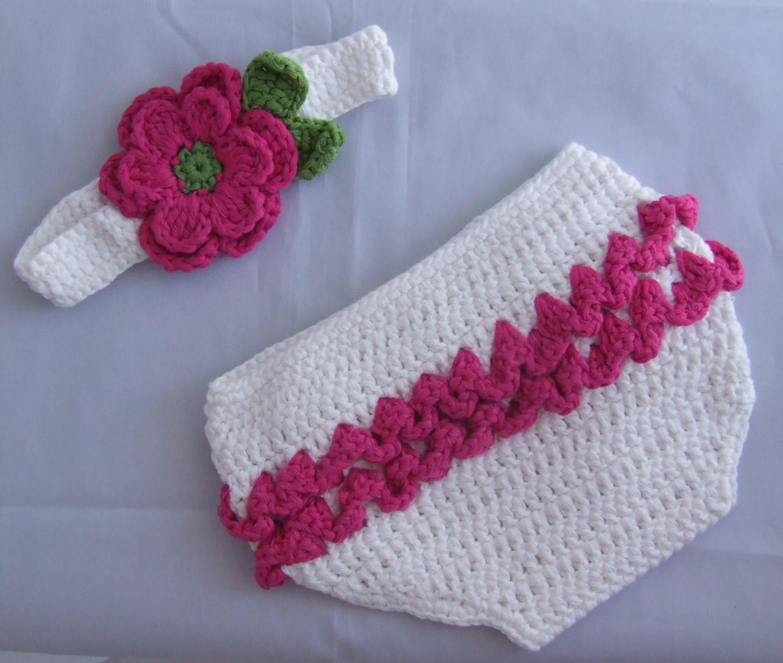 Fine Crochet Diaper Cover With Ruffles Pattern Illustration - Easy ...