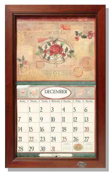 Calendar Wooden Frame : Lang legacy calendar frame wooden fence paling