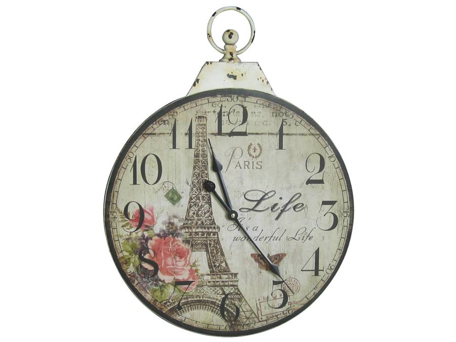clock french provincial country inspired wall clocks paris