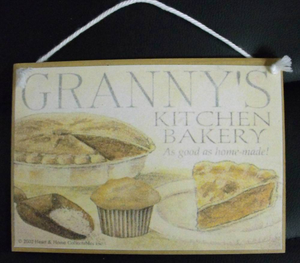 Country Printed Quality Wooden Sign *Assorted Vintage Inspired Kitchen plaques