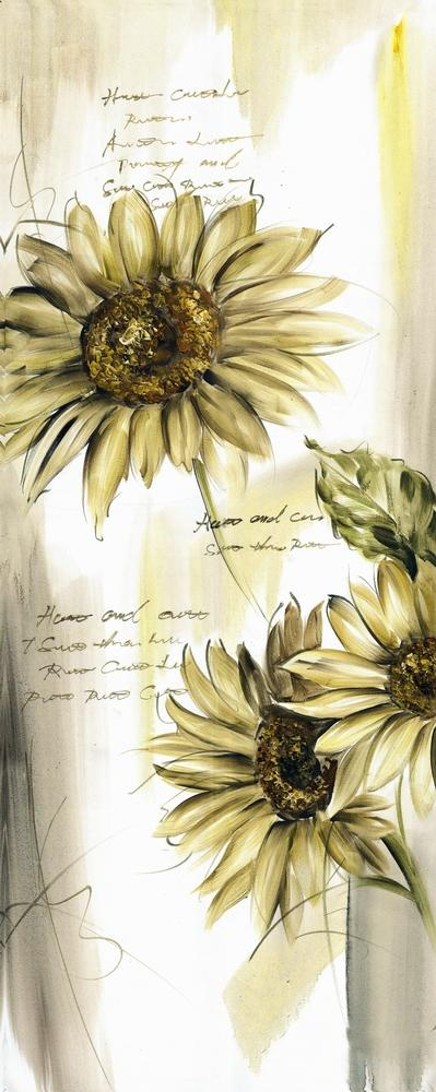 Vintage Sunflower Wall Decor : Canvas print french country vintage inspired picture