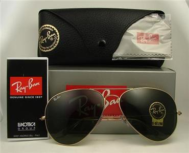 rb3026  Ray Ban Aviator RB3026 L2846 Gold frame / G-15 XLT size 62 mm in ...