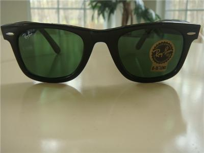 ray ban 2140 50 22  Sunglasses Ray Ban Wayfarer RB 2140 901 Black size 50 mm