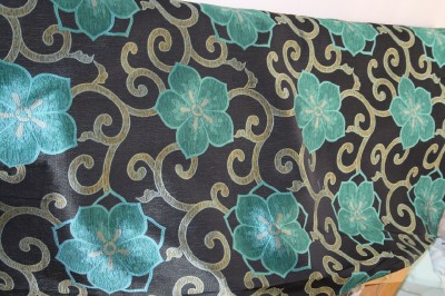 Mardi Gras Curtains - Black and Gold Metallic Curtains