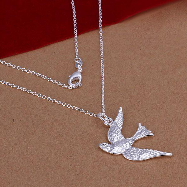 NEW GIFT Womens 925Solid Silver Jewelry Pendant Necklace Chain Jewelry + box