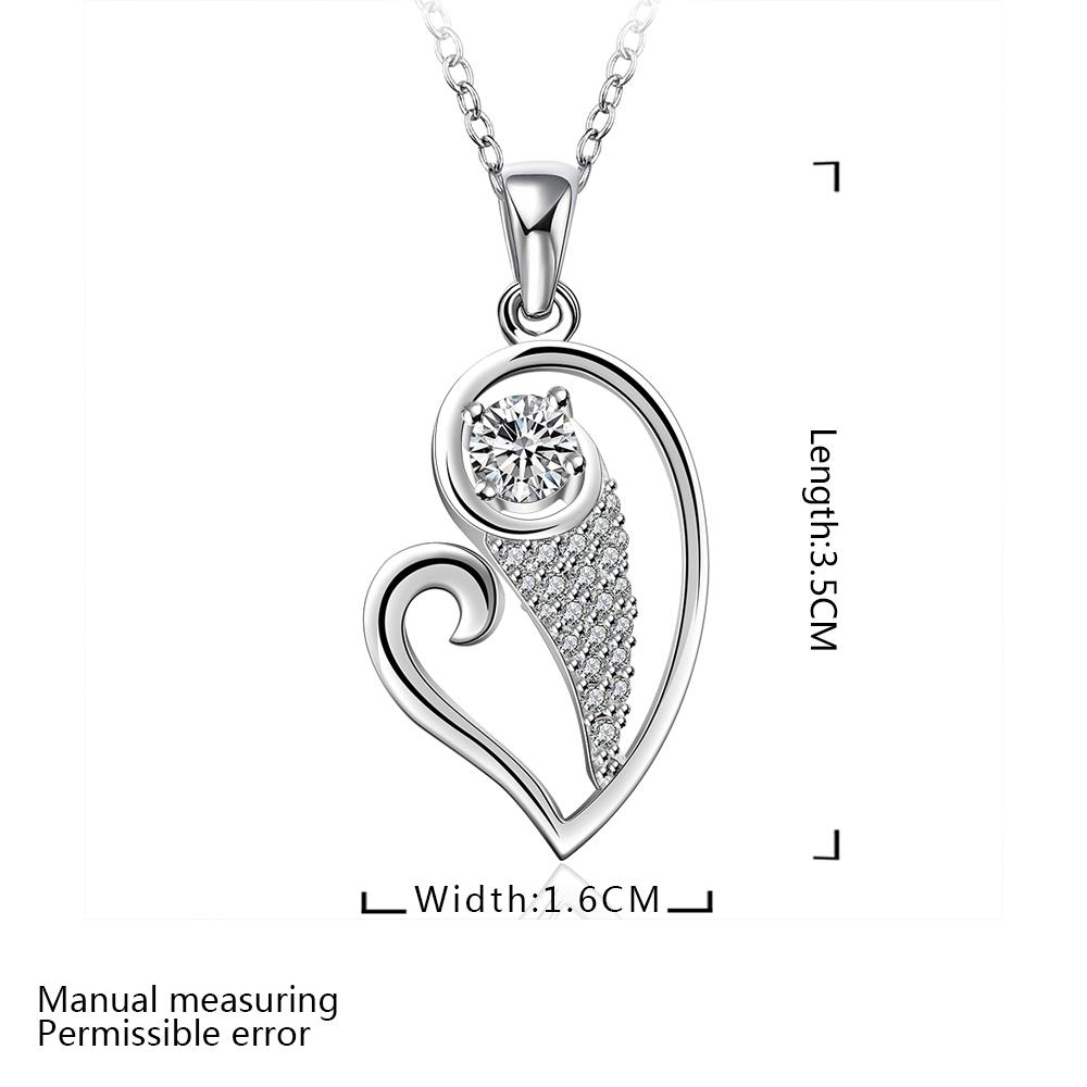 2015 New Jewelry Solid 925Sterling Silver Necklace Pendant Necklace Lover Gift