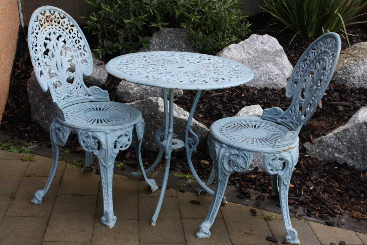 cast iron outdoor table and chairs ebay