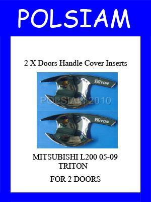 Mitsubishi-L200-TRITON-2-Doors-Handle-Cover-Inserts-CHROME-SURROUND-TRIM-2005