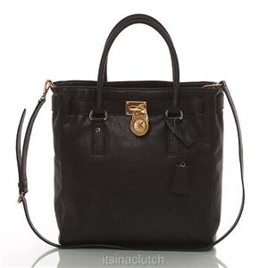 Auth Michael Kors Black Hamilton Multi Function Tote Bag