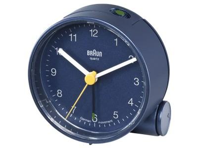 authentic braun quartz round black digital alarm