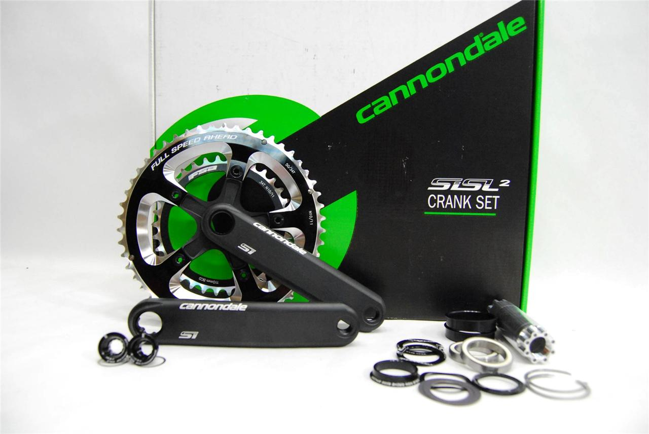 Cannondale-Hollowgram-Si-Crankset-Bottom-Bracket-FSA-N10-11-50-34-BB30-NEW