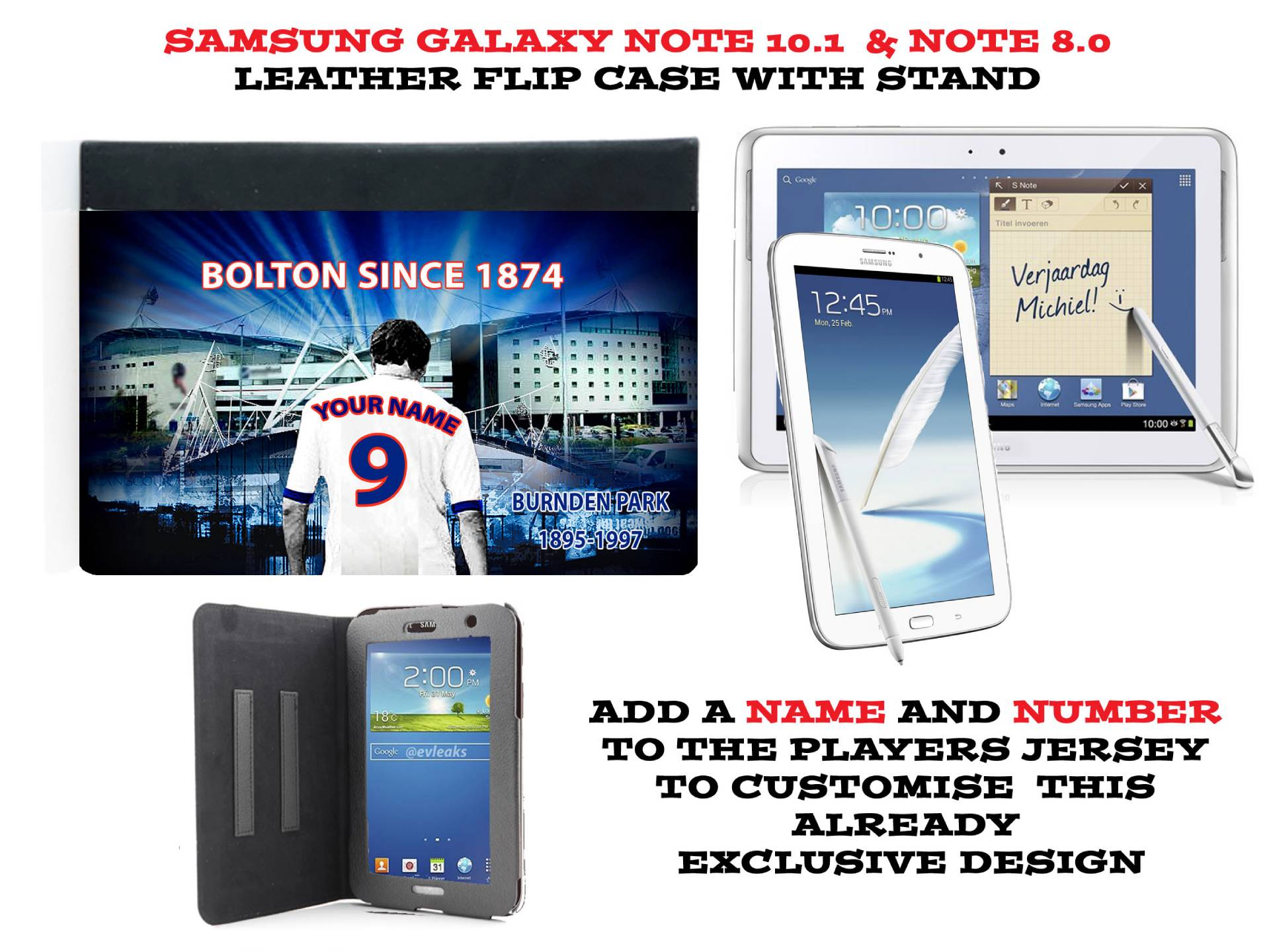 PERSONALISED-UNOFFICIAL-BOLTON-WANDERERS-SAMSUNG-GALAXY-NOTE-PU-LEATHER-CASE