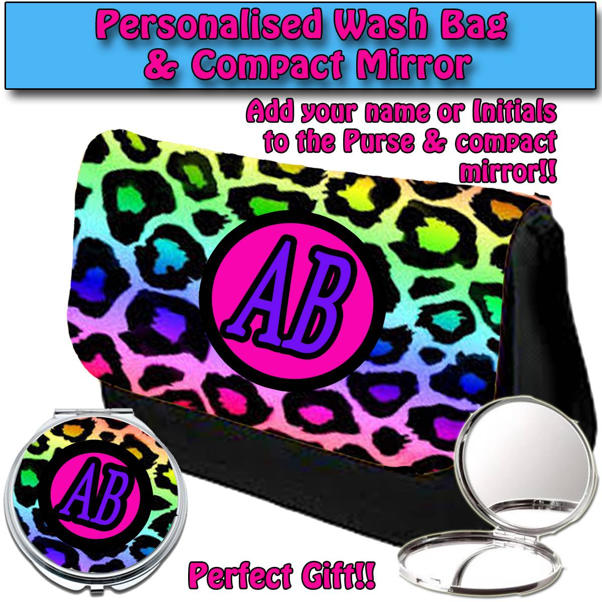 PERSONALISED-WOMEN-RAINBOW-LEOPARD-MAKE-UP-BAG-COMPACT-MIRROR-LADIES-GIFT-001