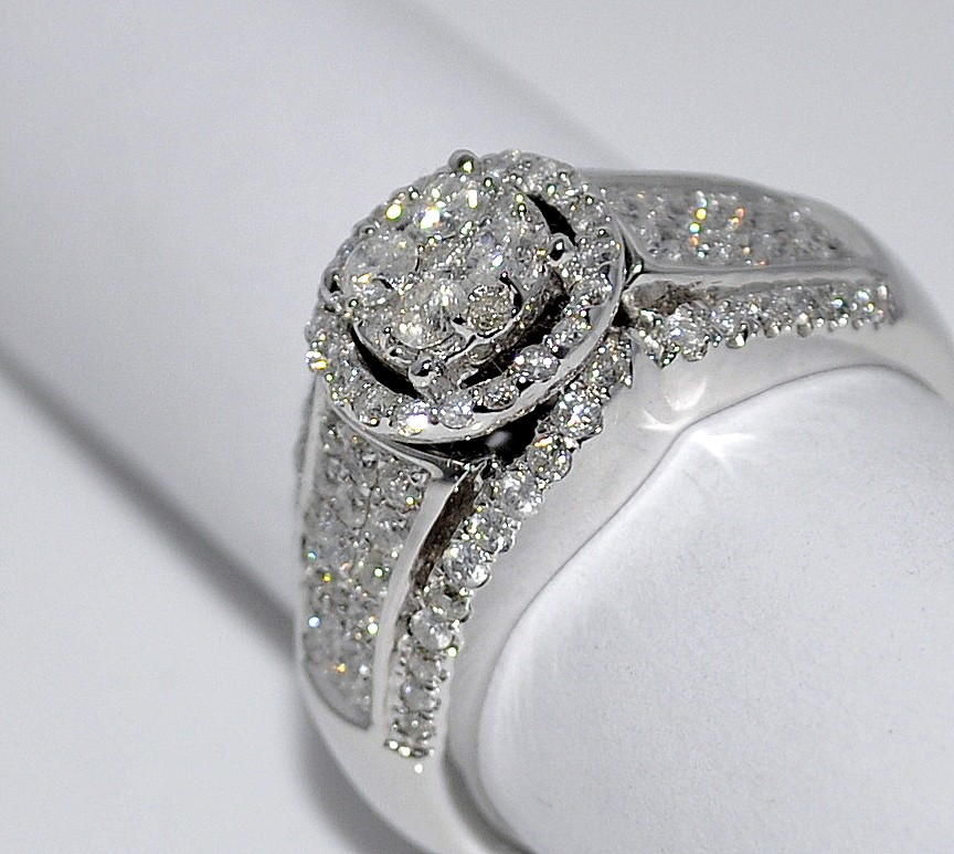 1ct engagement wedding ring 10k white gold