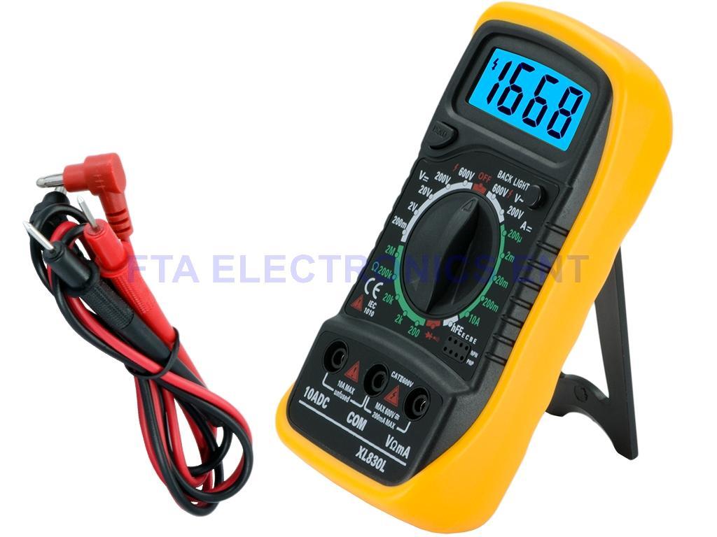 Digital Ohm Meter : Digital lcd multimeter voltmeter ohm meter amp volt
