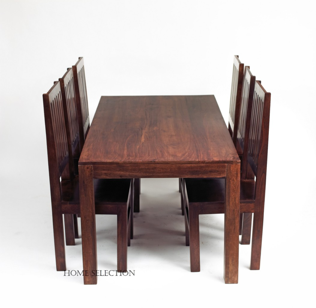 Toko Mango Solid Wood Dining Set with 6 Wooden Chairs eBay : 484407188o from ebay.co.uk size 1053 x 1024 jpeg 103kB