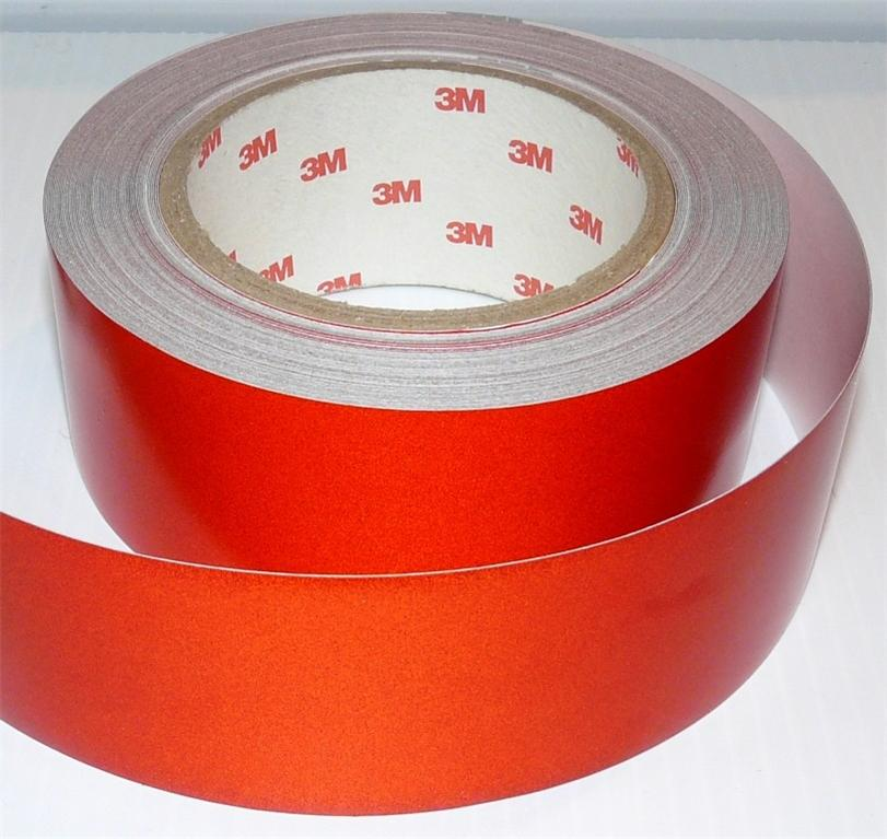3M™ REFLECTIVE SAFETY TAPE CLASS 2 RED 50mm x 45.7m