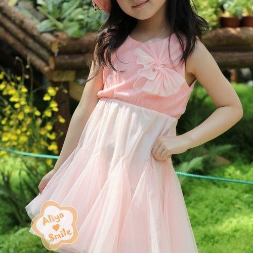 NWT-Girls-Tulle-Veil-Dress-Easter-Spring-Summer-Dress-2-Color-SZ-2T-3T-4T-5T