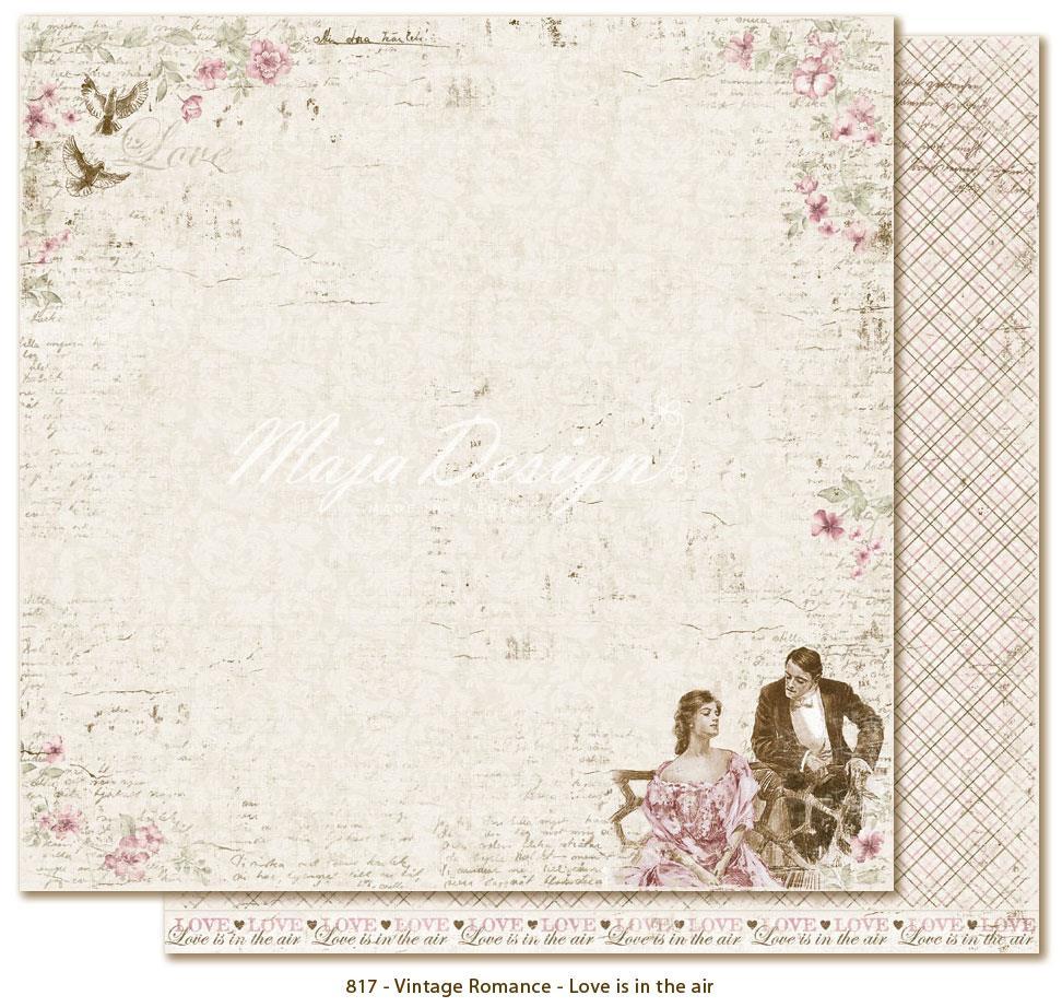 Scrapbook paper design - Maja Design 12 X 12 Vintage Romance Scrapbook