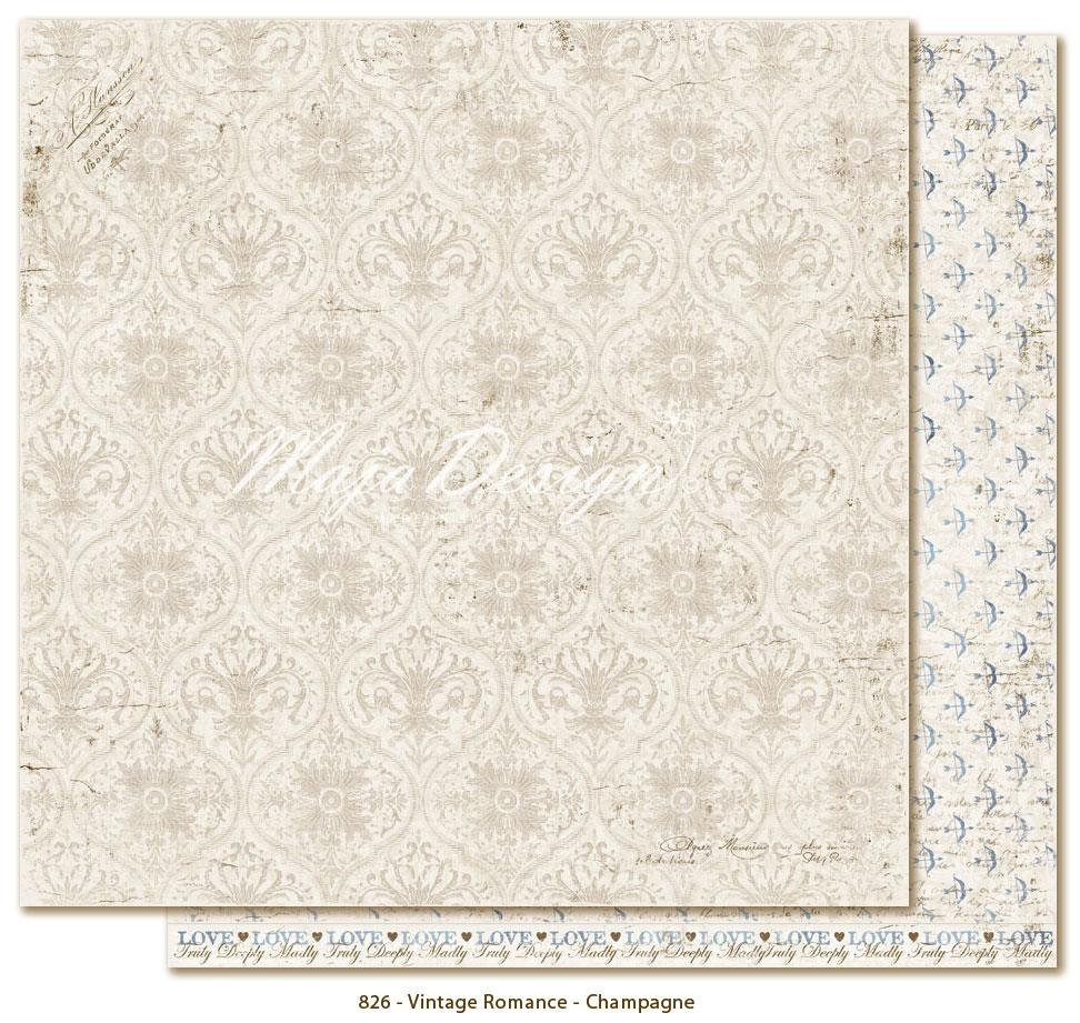 maja design 12 x 12 vintage romance scrapbook paper - pick from drop