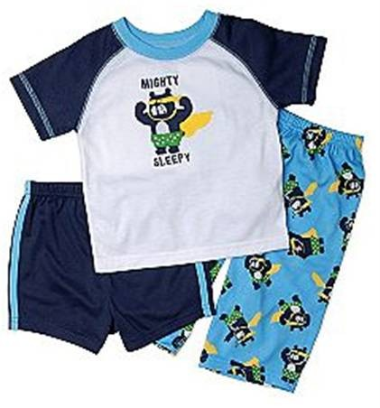 NEW-With-Tags-Boys-CARTERS-Cotton-Sleepwear-3-Pc-Set