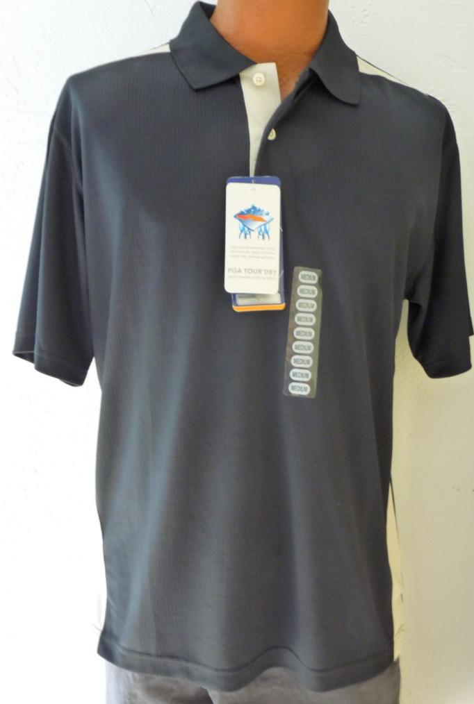 new mens pga tour golf polo shirt tour dry  many sizes and