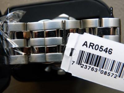 New Emporio Armani Men's Quartz Black Dial Stainless Steel Bracelet Watch AR0546
