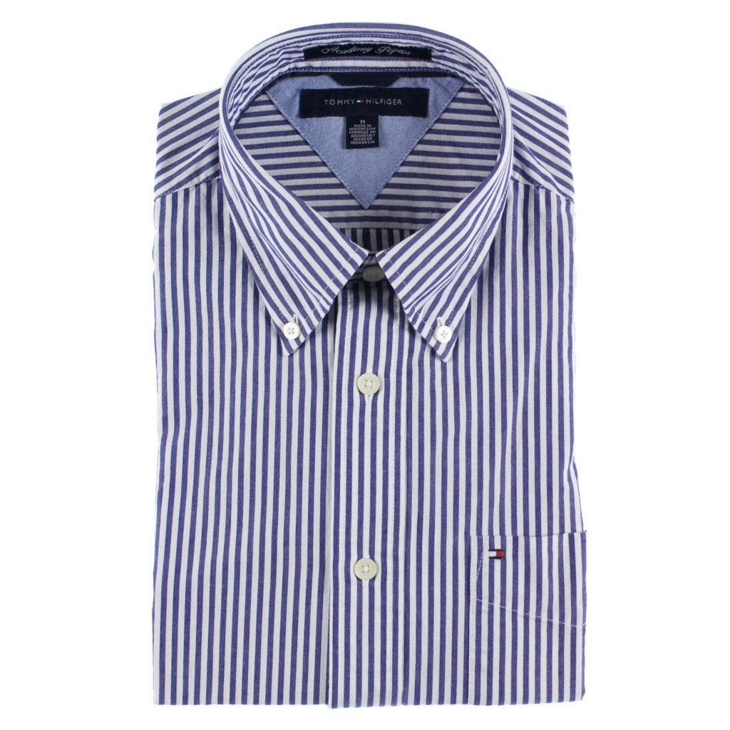 New mens tommy hilfiger 100 cotton academy poplin dress for Tommy hilfiger dress shirts on sale