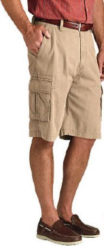 NEW-MEN-039-S-DOCKERS-RELAXED-FIT-FLAT-FRONT-SOFT-WASHED-CARGO-SHORTS-MANY-SZ-COLORS