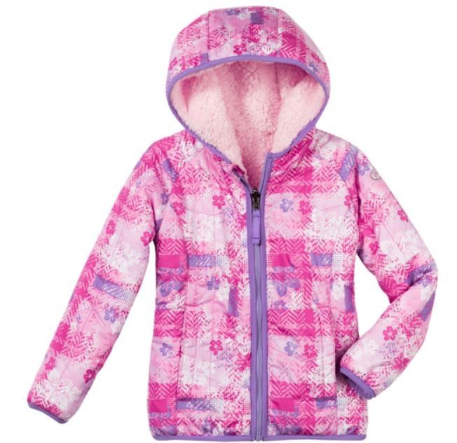 NEW TODDLER GIRLS SNOZU REVERSIBLE FAUX FUR FLEECE JACKET COAT