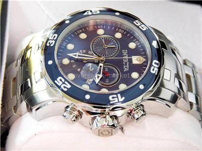 Display Invicta 0070 Mens Pro Diver Collection Chronograph Stainless Steel Watch