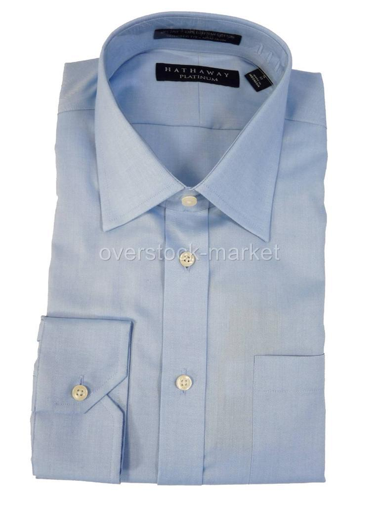 New men 39 s hathaway 100 egyptian cotton non iron dress for Mens egyptian cotton dress shirts