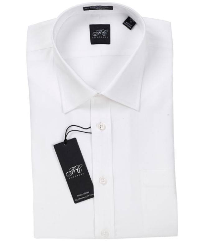New mens foxcroft 100 egyptian cotton non iron tailored for Mens egyptian cotton dress shirts
