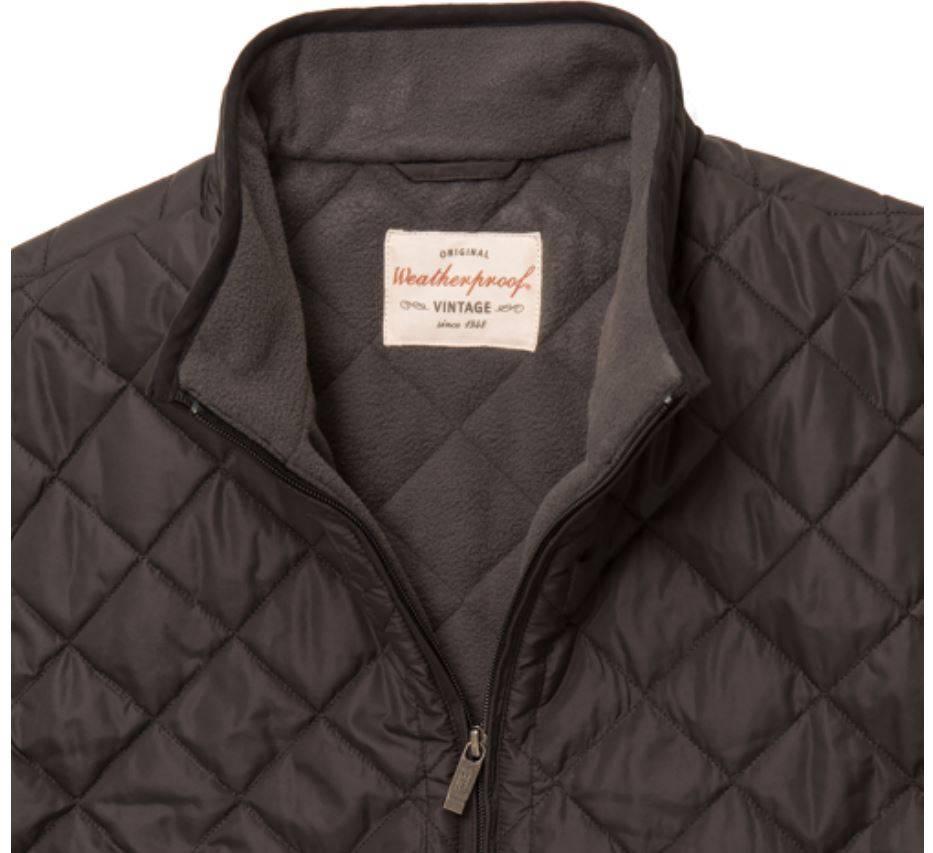New mens weatherproof vintage quilted vest fleece lined for Weatherproof vintage men s lightweight flannel shirt