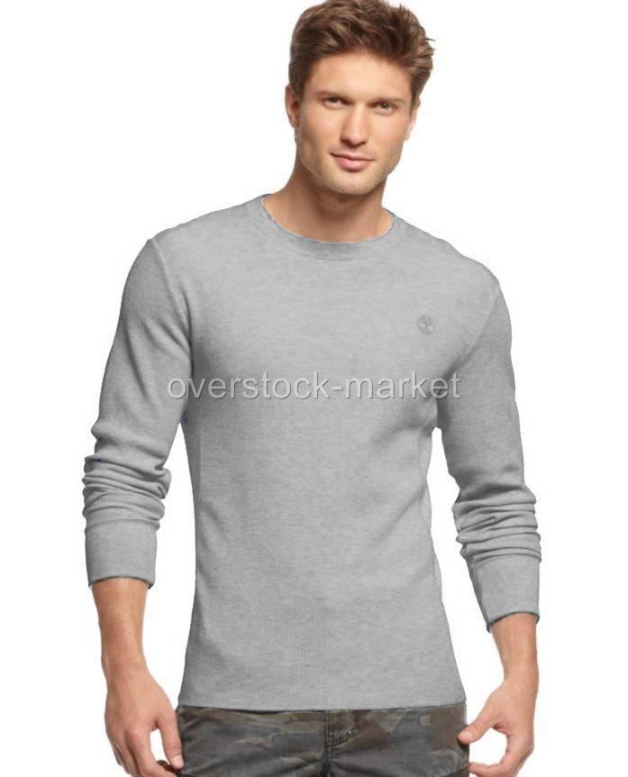 new mens timberland long sleeve thermal waffle crewneck