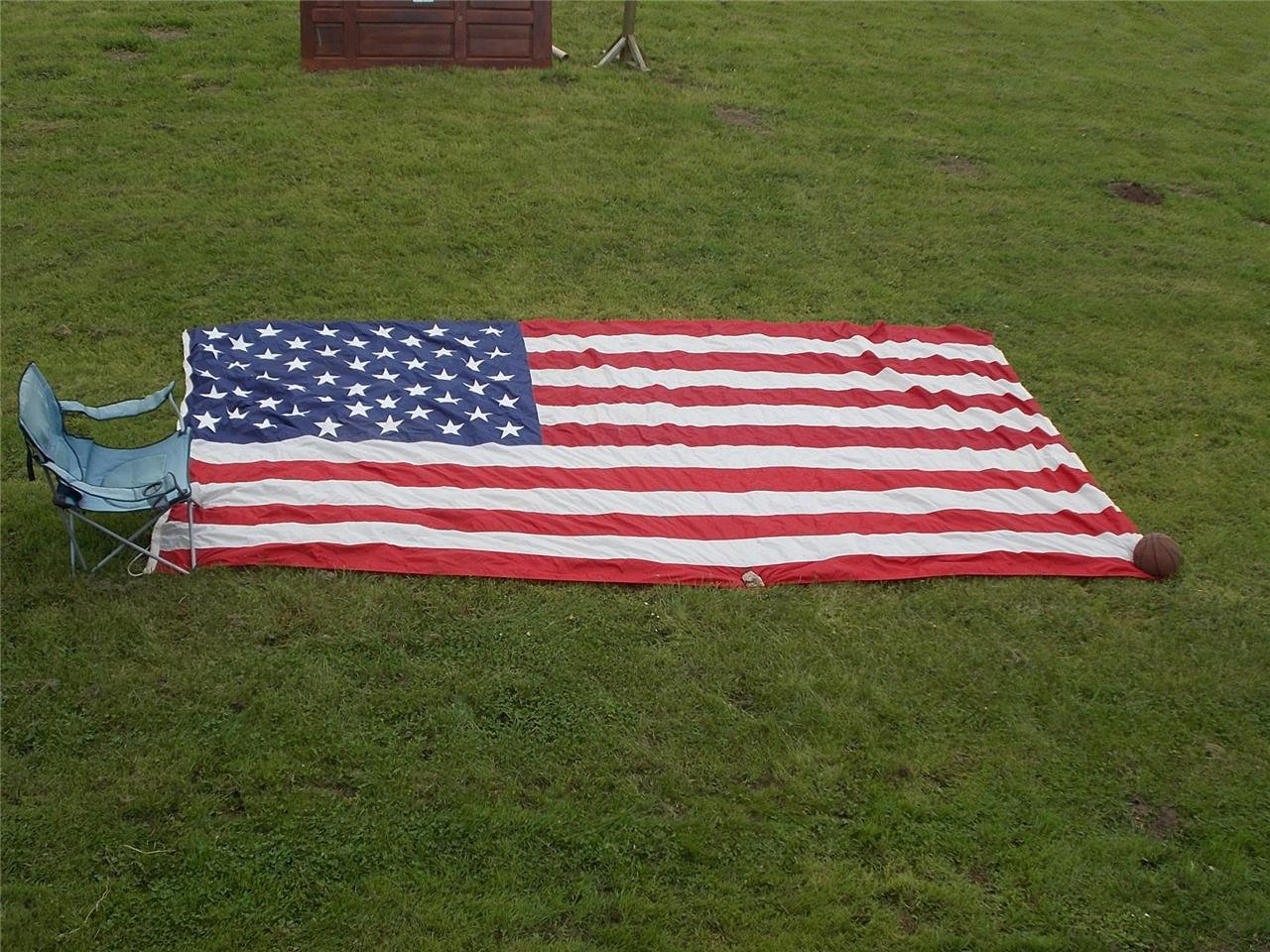 Huge-Flag-from-USS-ENTERPRISE-US-Navy-Aircraft-Carrier-Gulf-War-Naval-Militaria