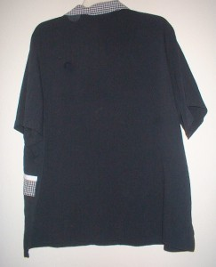 Womens Plus Size Allison Daley Black White Print Button Front Top