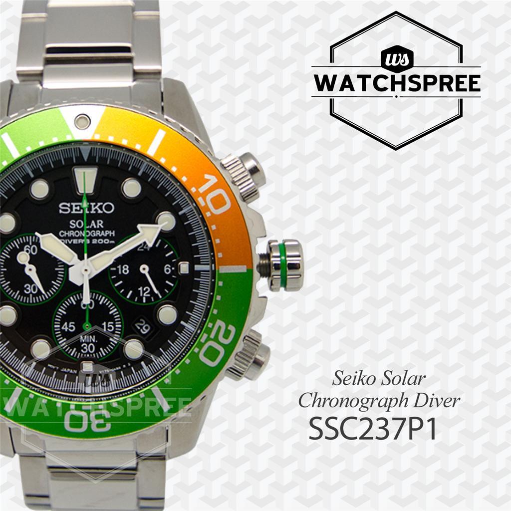seiko solar chronograph diver 39 s watch ssc237p1. Black Bedroom Furniture Sets. Home Design Ideas